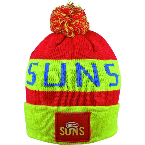 Gold Coast Suns Pom Pom Bar Beanie