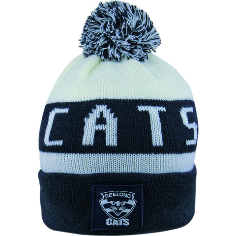 Geelong Cats Pom Pom Bar Beanie