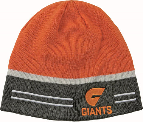 Greater Western Sydney GWS Giants Reversible Beanie - Spectator Sports Online - 1