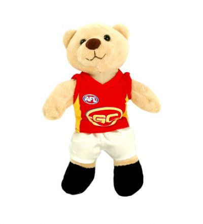 Gold Coast Suns AFL 22cm Beanie Bear - Spectator Sports Online