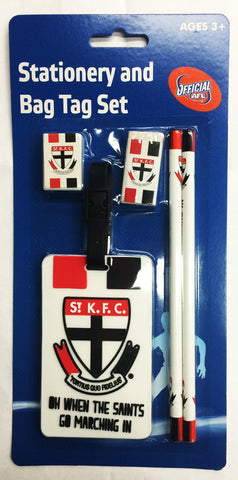 St Kilda Saints Stationery & Bag Tag Set - Spectator Sports Online