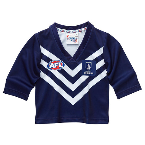 Fremantle Dockers Longsleeve Baby Toddlers Footy Jumper Guernsey - Spectator Sports Online - 1
