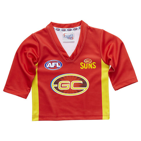 Gold Coast Suns Longsleeve Baby Toddlers Footy Jumper Guernsey - Spectator Sports Online - 1