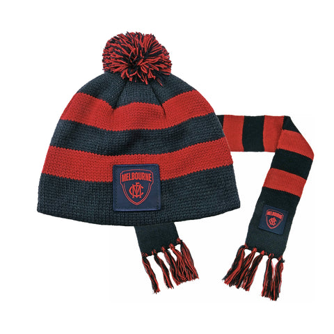 Melbourne Demons Baby Pack - Baby Scarf and Beanie