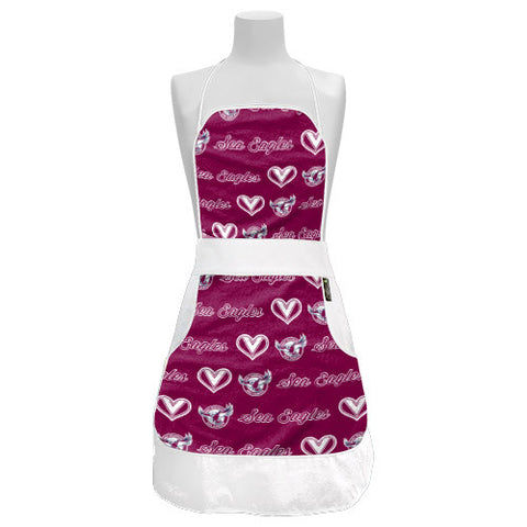 Manly Sea Eagles Ladies Retro BBQ Apron