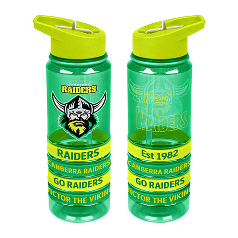 Canberra Raiders  Tritan Rubber Bands Bottle