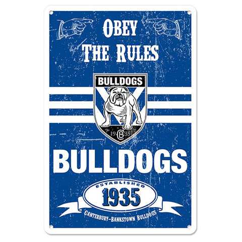 Canterbury Bulldogs Retro Metal Sign