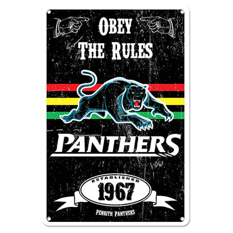 Penrith Panthers Retro Metal Sign
