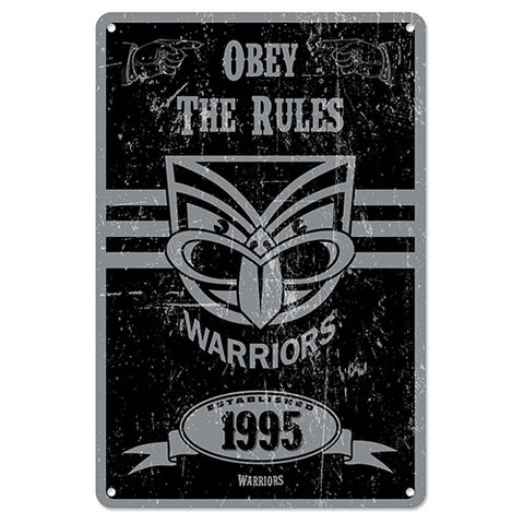 New Zealand Warriors Retro Metal Sign