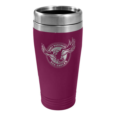 Manly Sea Eagles NRL Stainless Steel Travel Mug