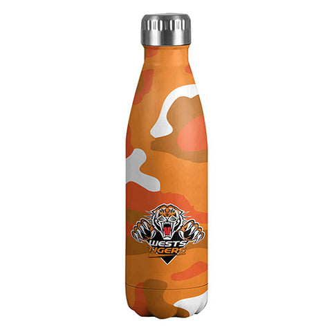 Wests Tigers Stainless Steel Wrap Bottle