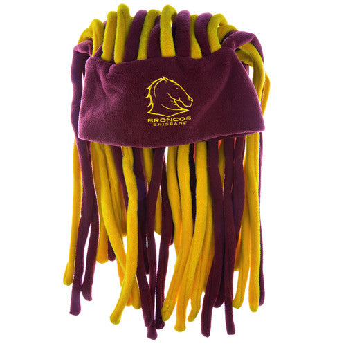 b3d37645c Brisbane Broncos Dreadlock Pez Beanie Fun Hat
