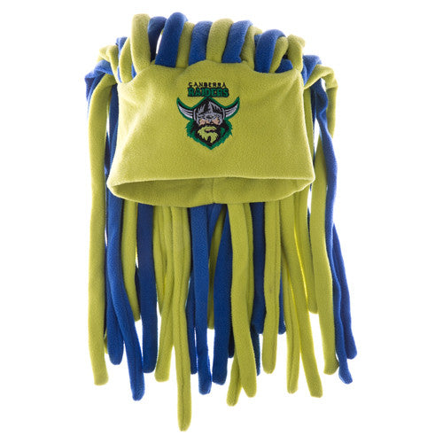 1e3c41383 Canberra Raiders Dreadlock Pez Beanie Fun Hat - Spectator Sports Online