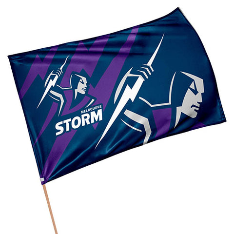 Melbourne Storm NRL Game Day Flag
