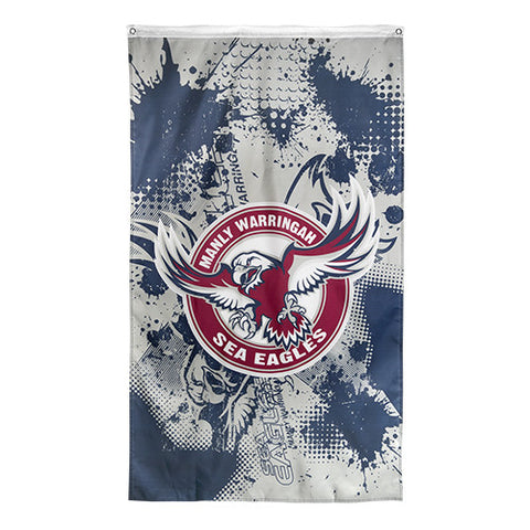 Manly Sea Eagles NRL Large Wall Cape Flag - Spectator Sports Online