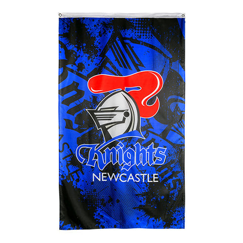 Newcastle Knights NRL Large Wall Cape Flag - Spectator Sports Online