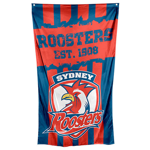 Sydney Roosters NRL Large Wall Cape Flag - Spectator Sports Online