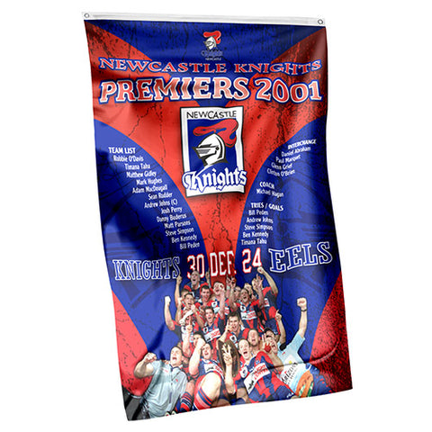 Newcastle Knights NRL Past Premiers Wall Flag