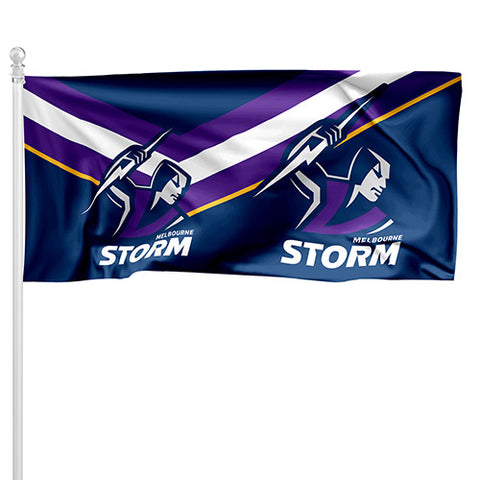 Melbourne Storm NRL Pole Flag