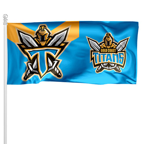 Gold Coast Titans NRL Pole Flag