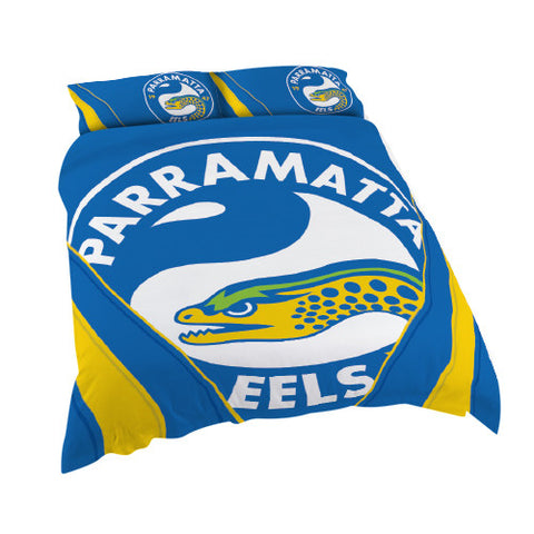 Parramatta Eels Quilt Doona Duvet Cover Pillow Case Set - Spectator Sports Online