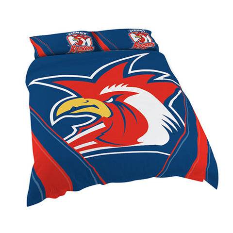 Sydney Roosters Quilt Doona Duvet Cover Pillow Case Set - Spectator Sports Online