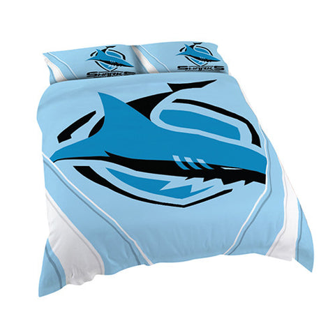 Cronulla Sharks Quilt Doona Duvet Cover Pillow Case Set - Spectator Sports Online