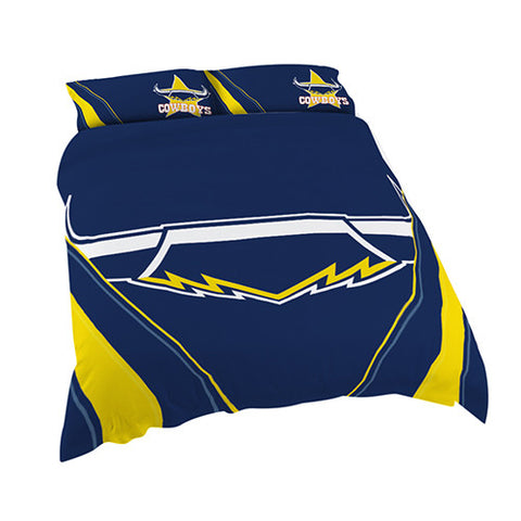 North Queensland Cowboys Quilt Doona Duvet Cover Pillow Case Set - Spectator Sports Online
