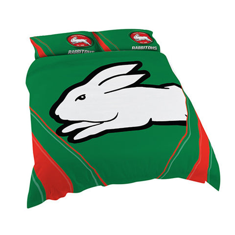 South Sydney Rabbitohs Quilt Doona Duvet Cover Pillow Case Set - Spectator Sports Online