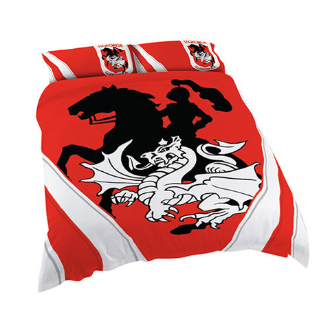 St George Dragons Quilt Doona Duvet Cover Pillow Case Set - Spectator Sports Online