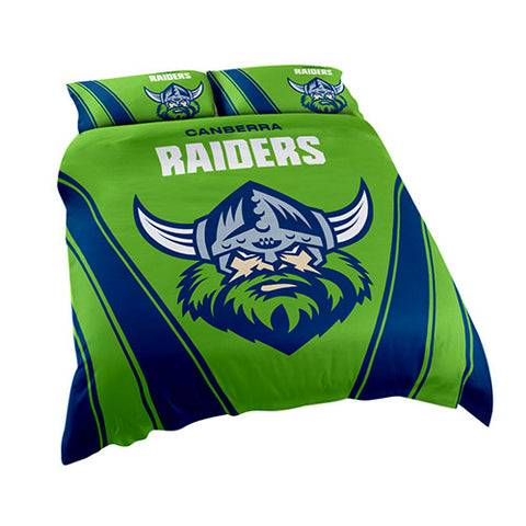 Canberra Raiders Quilt Doona Duvet Cover Pillow Case Set