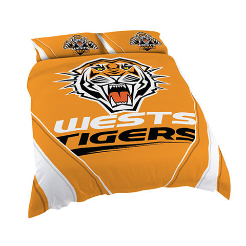 Wests Tigers Quilt Doona Duvet Cover Pillow Case Set - Spectator Sports Online