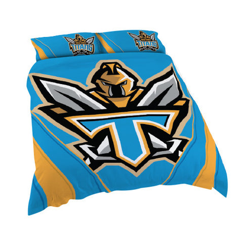 Gold Coast Titans  Quilt Doona Duvet Cover Pillow Case Set - Spectator Sports Online