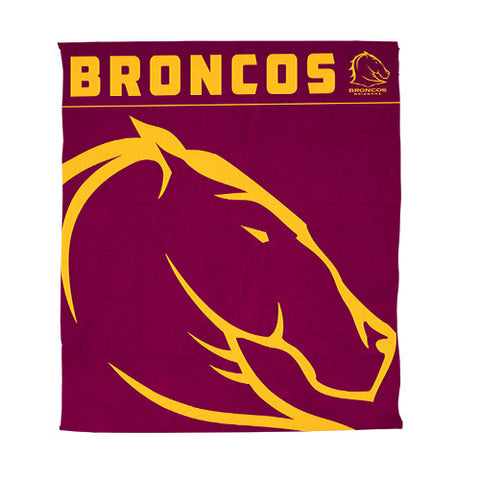 Brisbane Broncos Polar Fleece Throw Rug Blanket