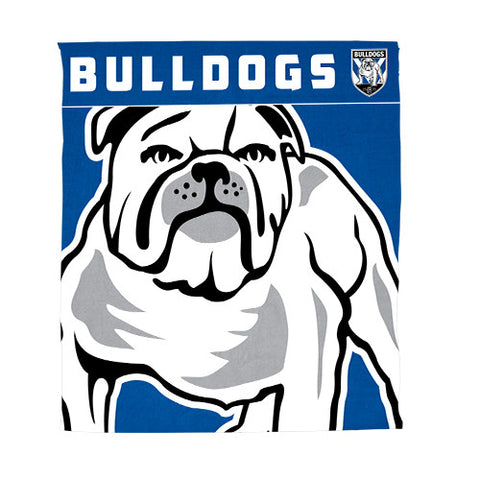 Canterbury Bulldogs Polar Fleece Throw Rug Blanket