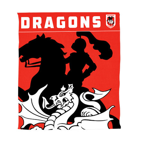St George Dragons Polar Fleece Throw Rug Blanket
