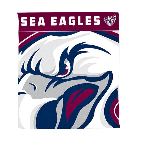Manly Sea Eagles  Polar Fleece Throw Rug Blanket