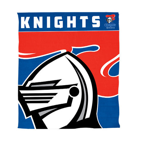 Newcastle Knights Polar Fleece Throw Rug Blanket