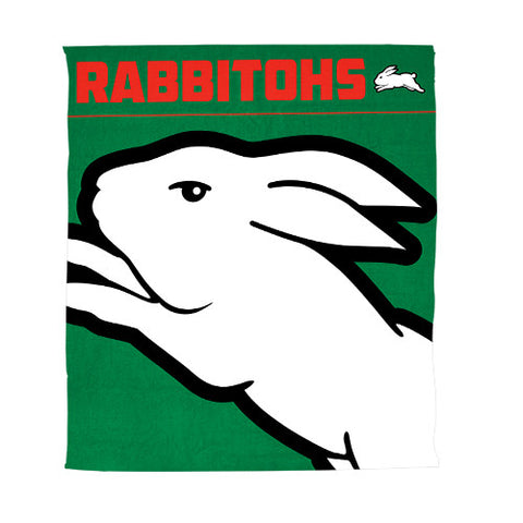 South Sydney Rabbitohs Polar Fleece Throw Rug Blanket