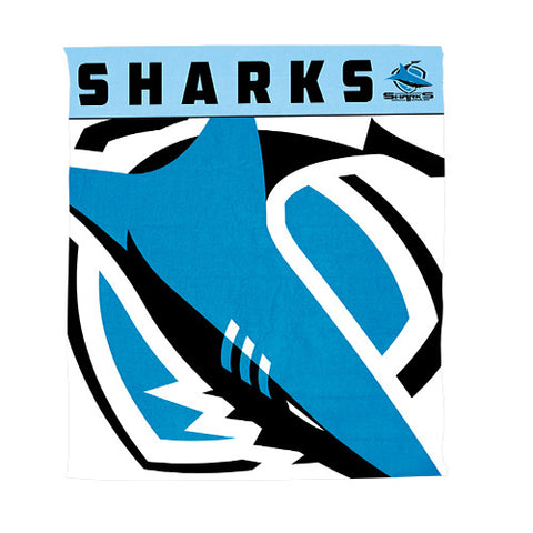 Cronulla Sharks Polar Fleece Throw Rug Blanket