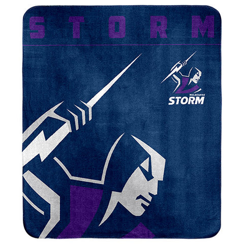 Melbourne Storm Polar Fleece Throw Rug Blanket