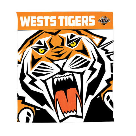 Wests Tigers Polar Fleece Throw Rug Blanket