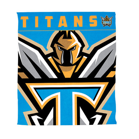 Gold Coast Titans Polar Fleece Throw Rug Blanket