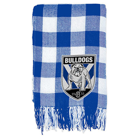 Canterbury Bulldogs Tartan Throw Blanket