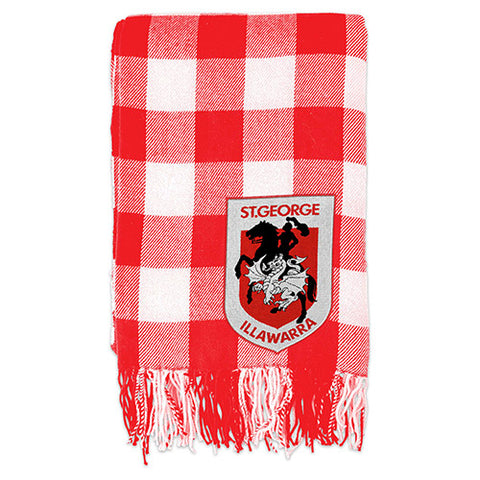 St George Dragons Tartan Throw Blanket
