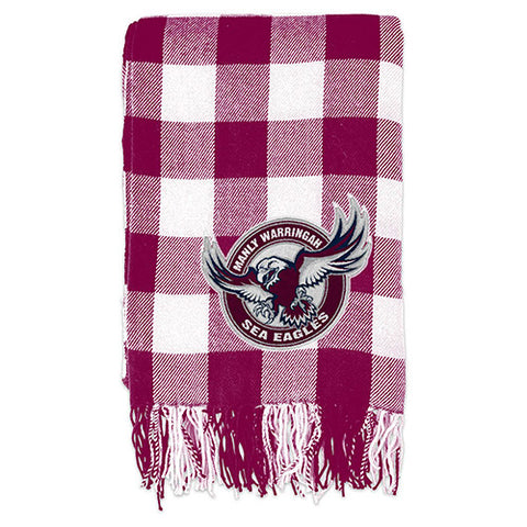 Manly Sea Eagles Tartan Throw Blanket