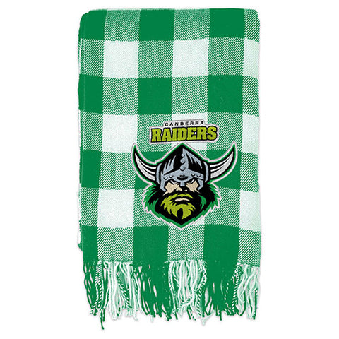 Canberra Raiders Tartan Throw Blanket