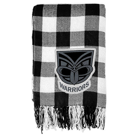 New Zealand Warriors Tartan Throw Blanket