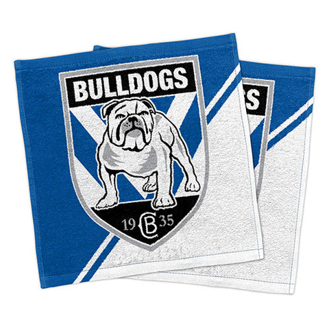 Canterbury Bulldogs Set Of 2 Face Washers