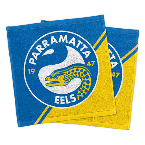 Parramatta Eels Set Of 2 Face Washers